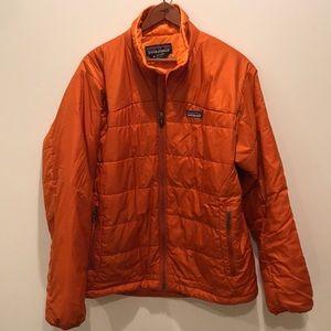 Patagonia orange puffer coat